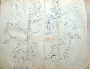 sketches from model sitting in the lifedrawing class 02